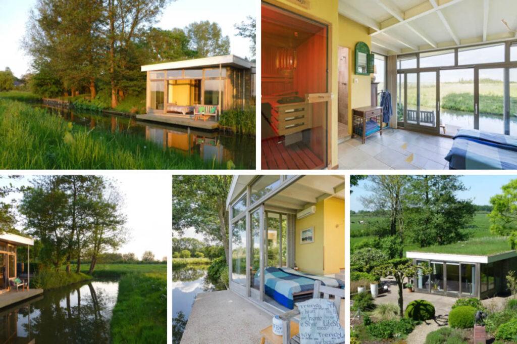 Huisjes aan het water in Nederland