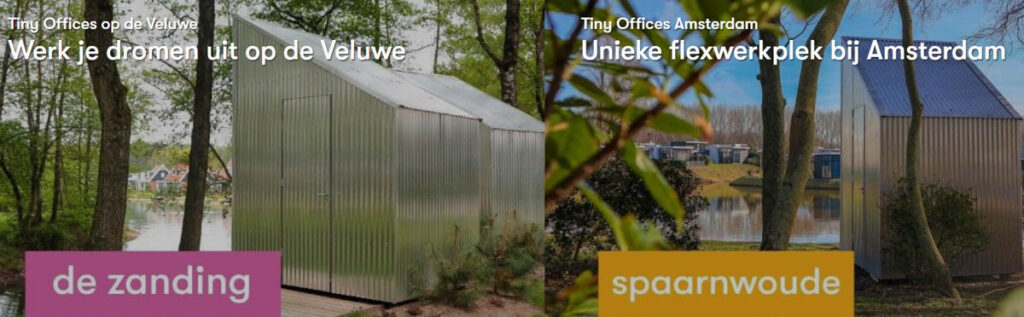 Workation in Tiny House & Tiny Office bij Droomparken