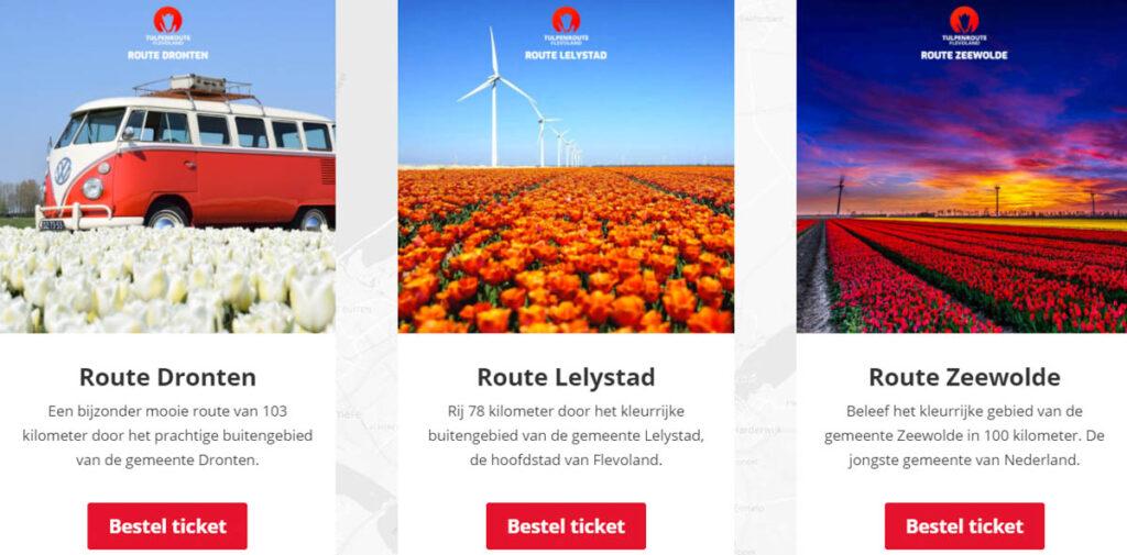 Tulpenroute Flevoland autoroutes