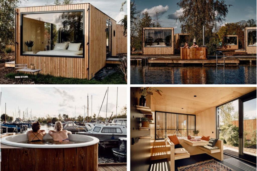 Huisje met slaapkamer met uitzicht Vinkeveense Plassen
