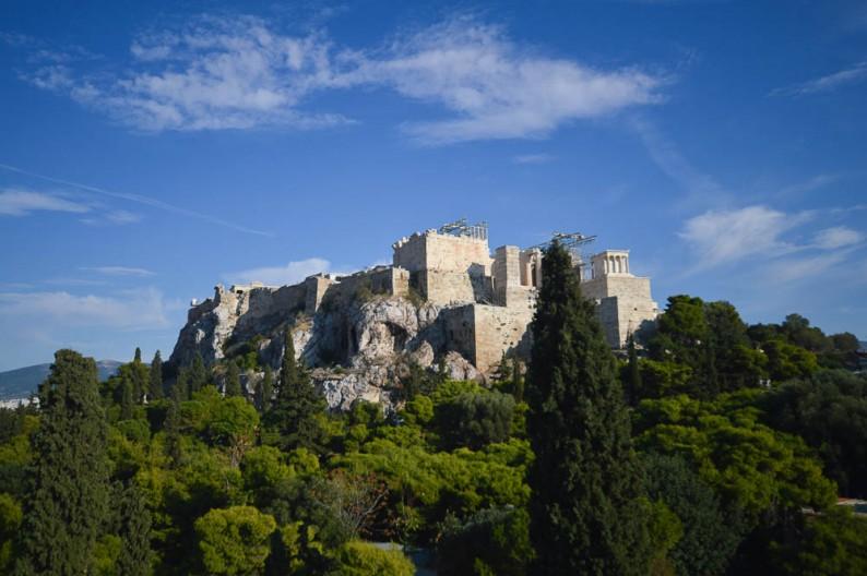 Fotoblog over Akropolis in Athene