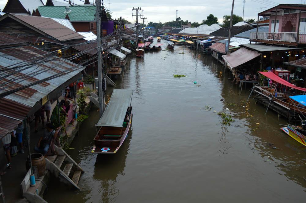 Amphawa, drijvende markt Thailand