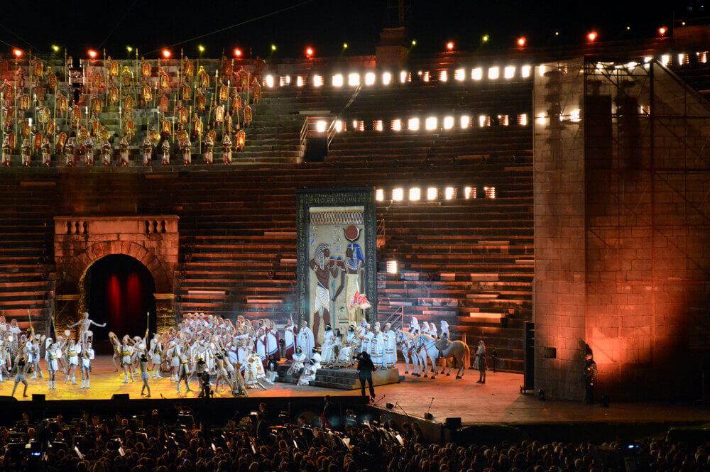 Opera voorstelling in de Arena di Verona