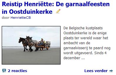 Artikel Oostduinkerke Wereldwijzer