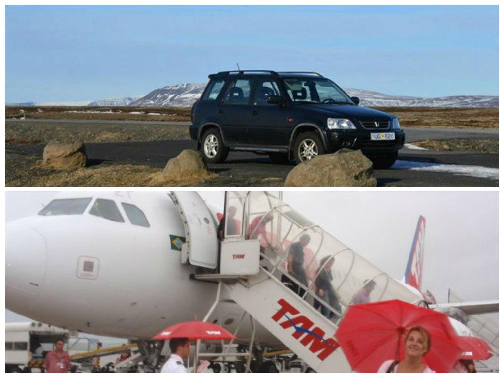 Met de auto of het vliegtuig op reis?