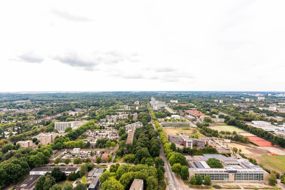 Tilburg vanaf grote hoogte