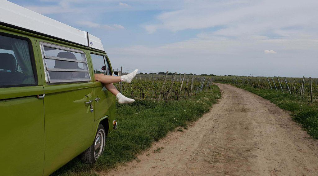 Camper reis door Europa