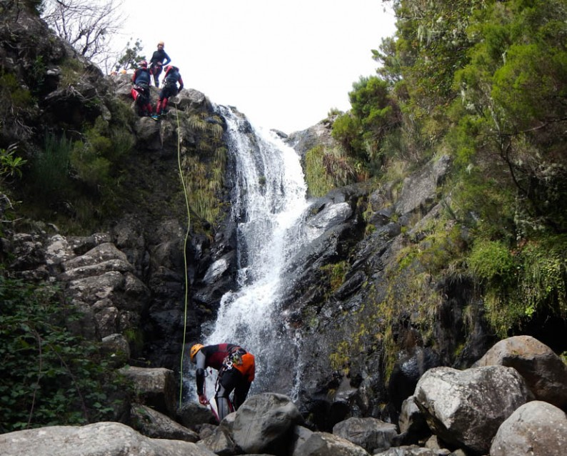 Canyoning adventure in Madeira