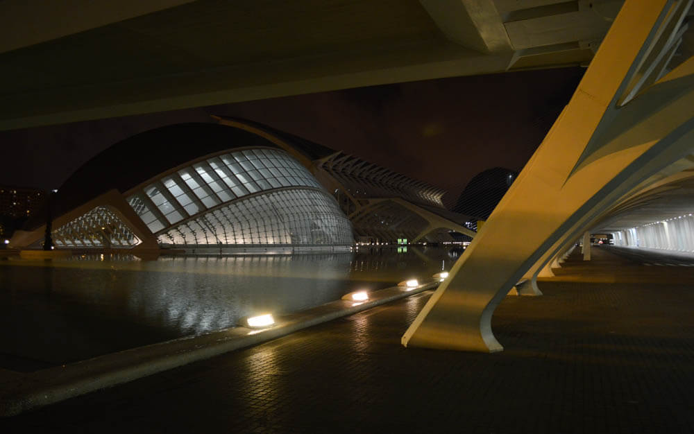 Ciudad de las Arts by night - Valencia