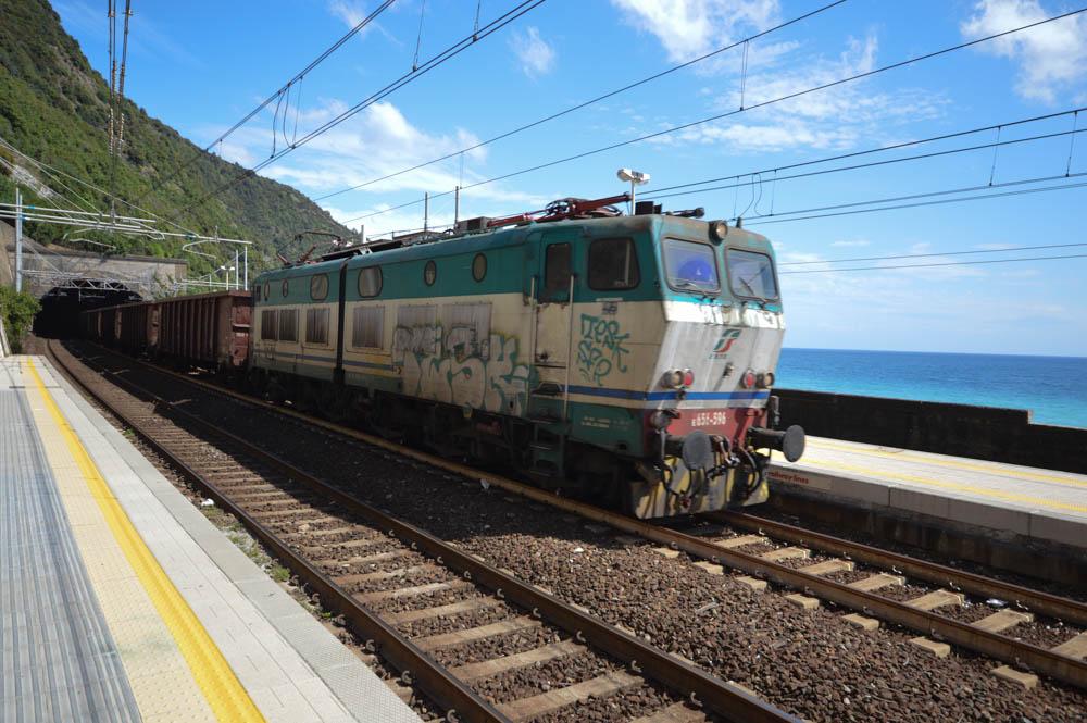 Aankomst trein Corniglia