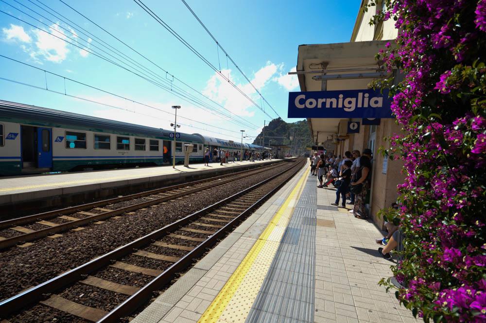 Het treinstation van Corniglia