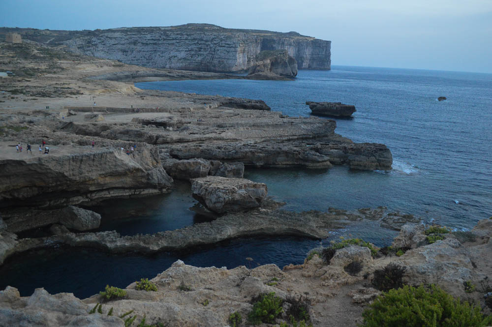 Rotsstructuren nabij Azure Window