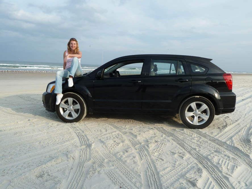Daytona Beach, autorijden over het strand