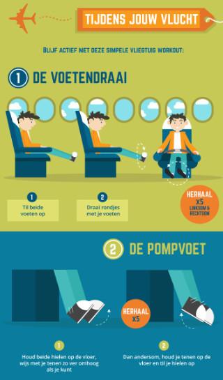 Hoe blijf je fit tijdens je vlucht?