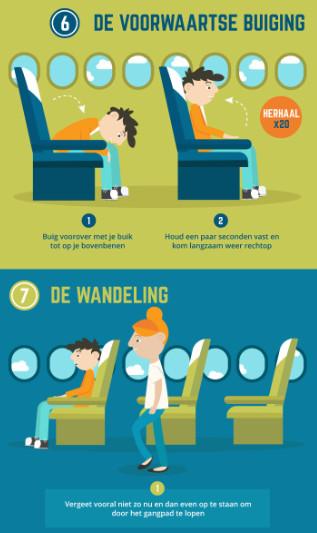 Wat doe jij om actief te blijven tijdens een vlucht?