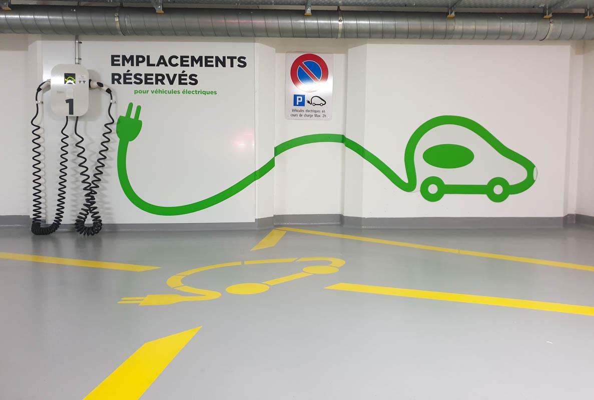 Elektrisch opladen in parkeergarage