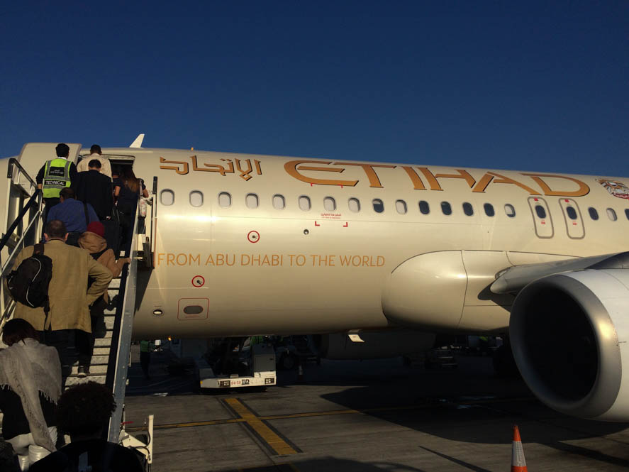 Op reis met Etihad Airways