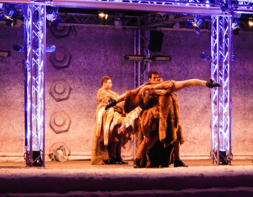 Multimedia dans & ski spektakel Gaia Stubai