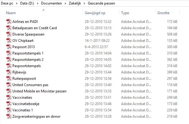 Documenten inscannen