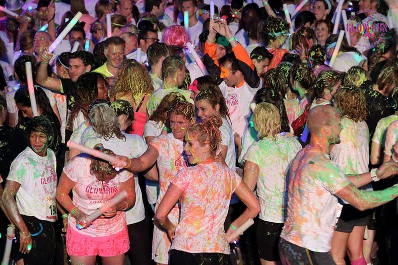Glow and run the night A-Way @ Glow Run Scheveningen 15 mei