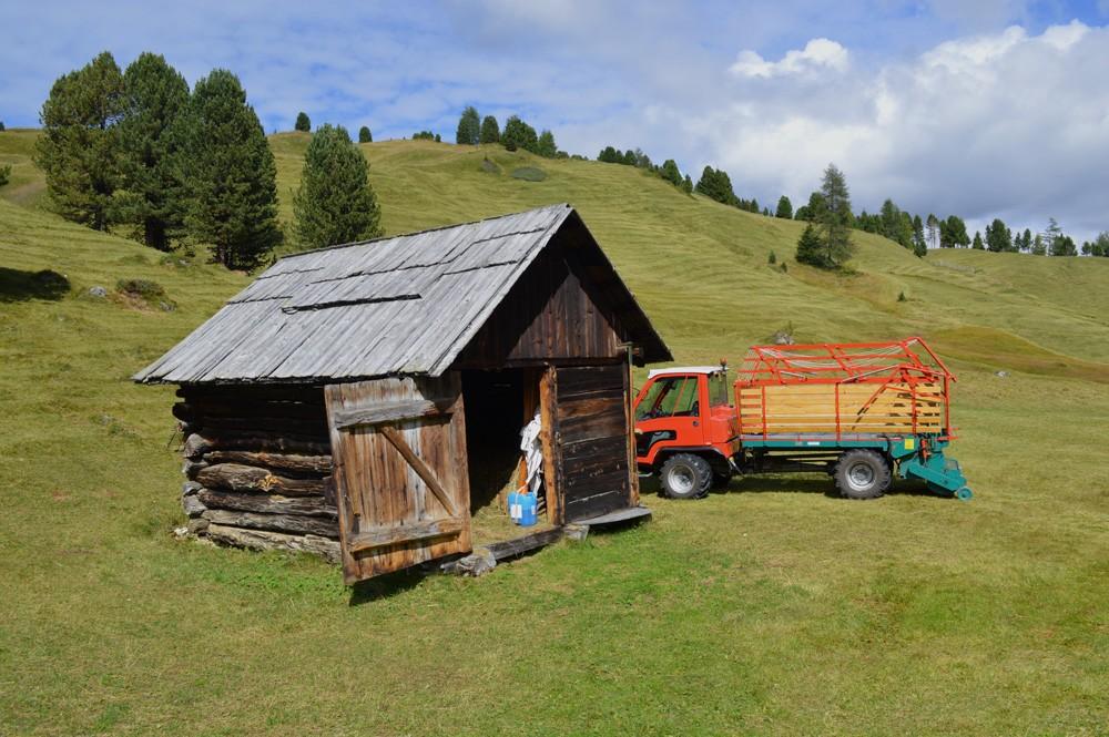 Berghut voor opslag van hooi