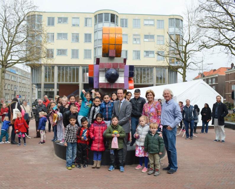 Kunstwerk Elandplein van Jan Goeting in Den Haag