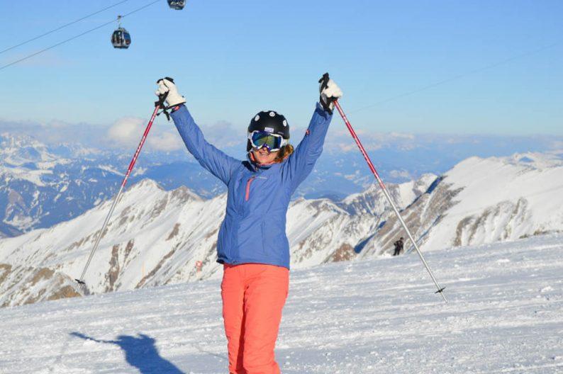 skien in de lente