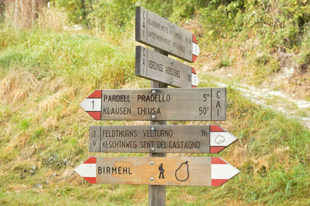 Hiken en proeven langs Kastanjeroute, Zuid-Tirol