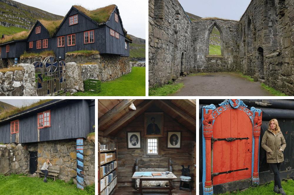 Oudste houten huis in Kirkjubøur