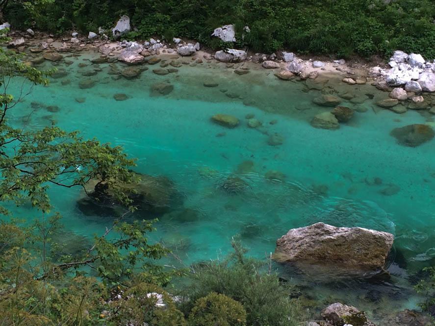 Soca rivier in de Soca vallei
