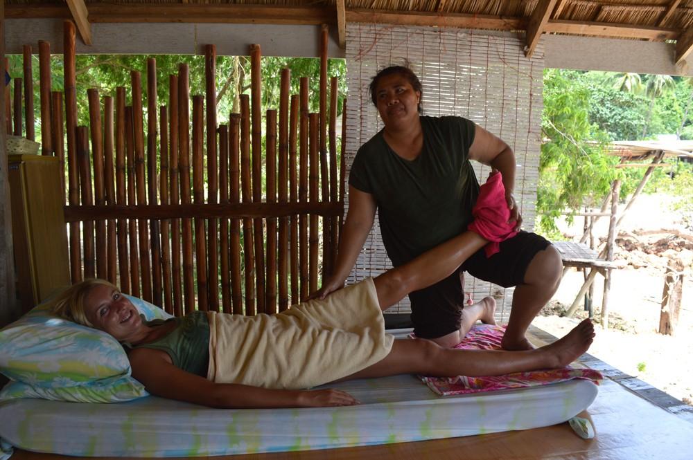 Massage op het Thaise eiland Koh Talu