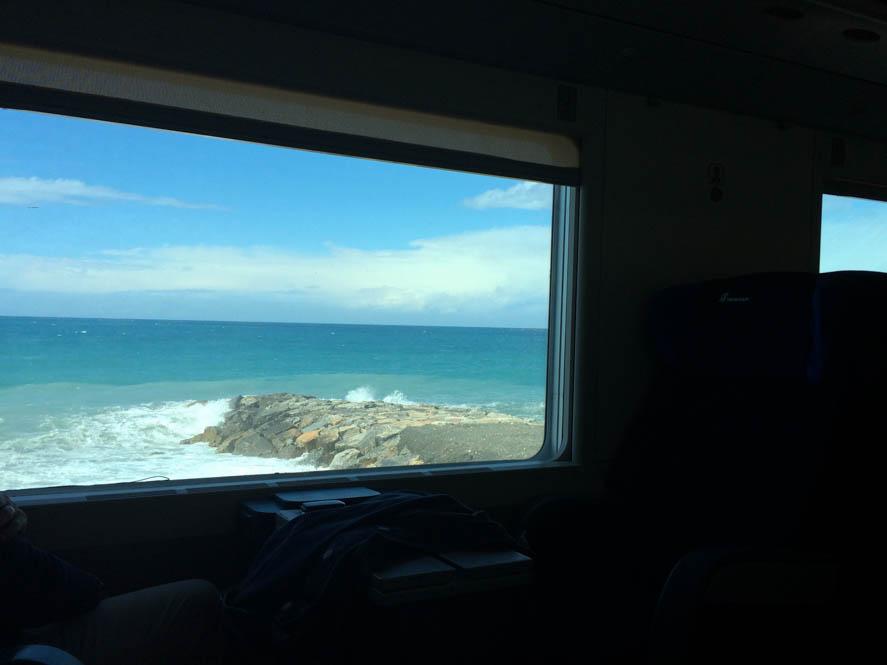 Uitzicht vanuit de trein