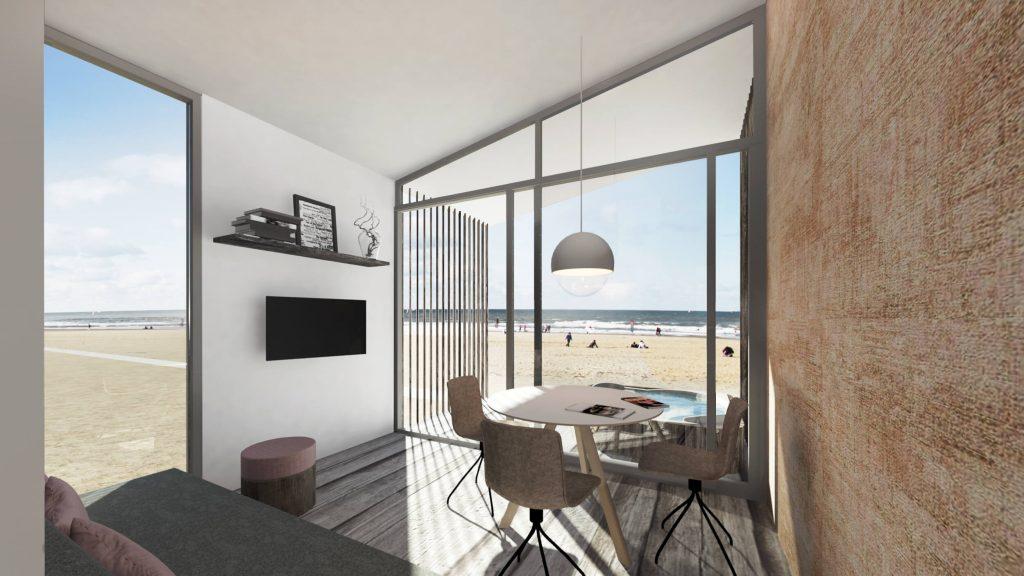 Luxe strandhuis aan zee met sauna en Jacuzzi