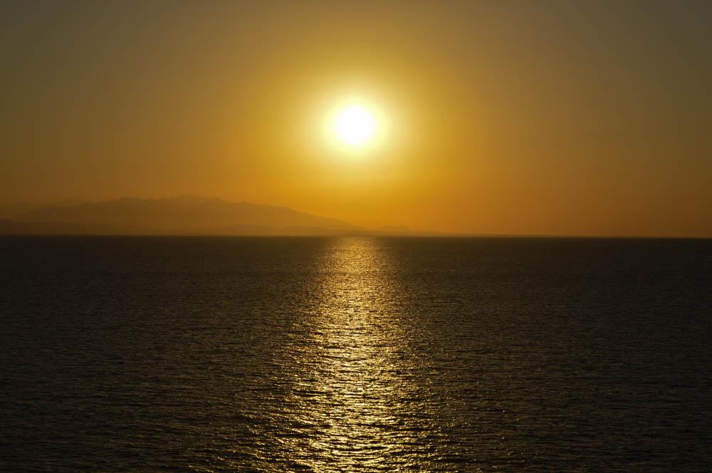 Sunset MSC Cruise