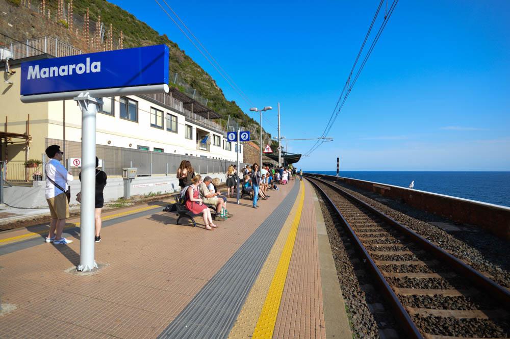 Het treinstation van Manarola