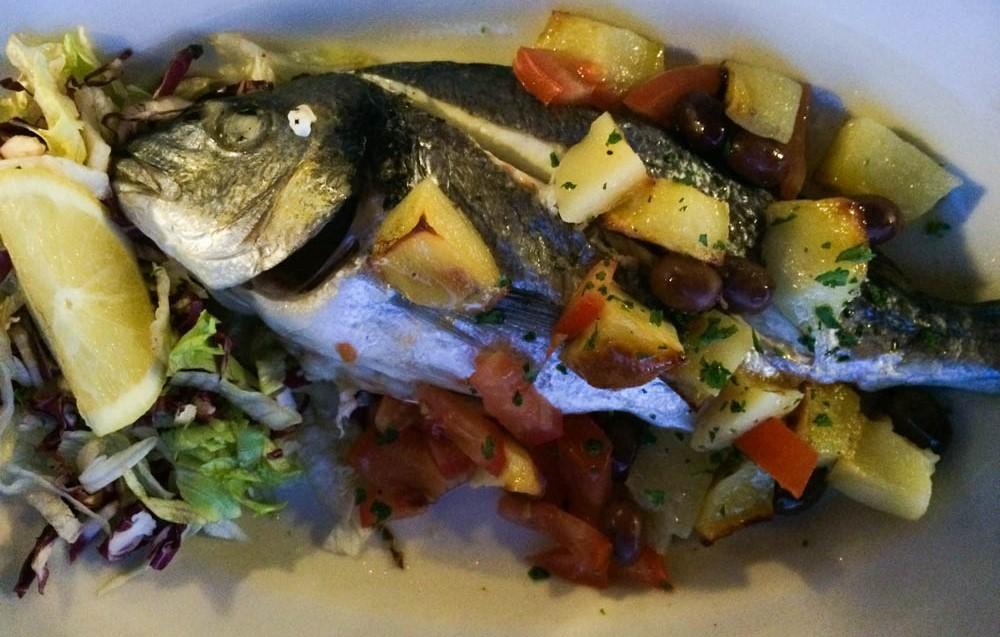 Vis eten @ Marina Piccola