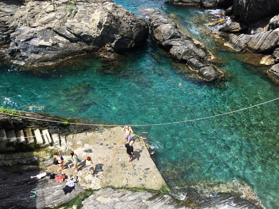 Zwemmen @ Manarola