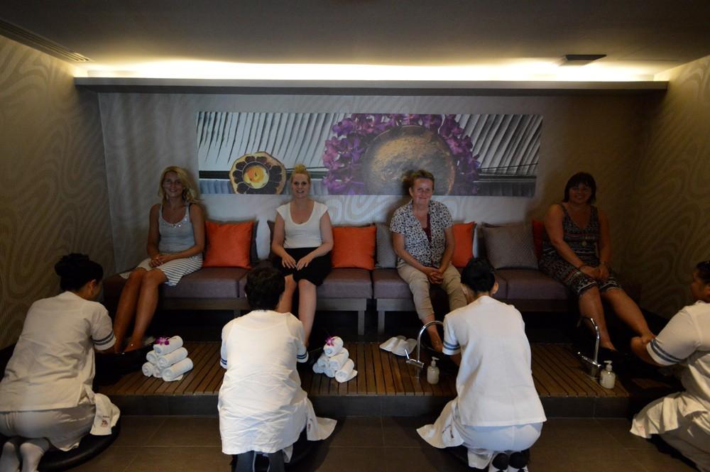 Let's Relax bij de Spa in het Mandarin Hotel in Bangkok