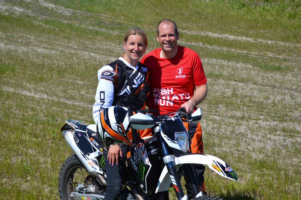 Motorcrossen met Simon