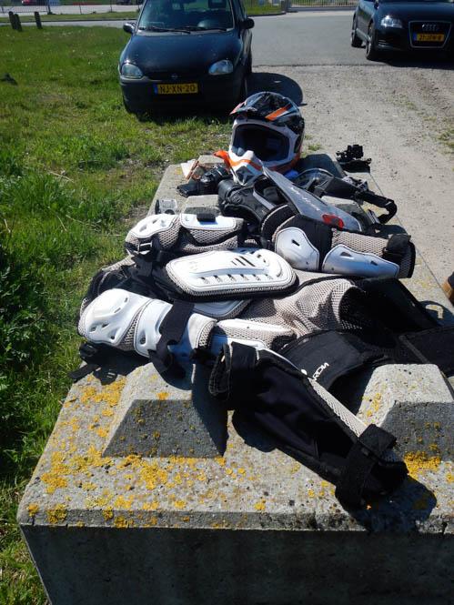Motorcrossen in de polder