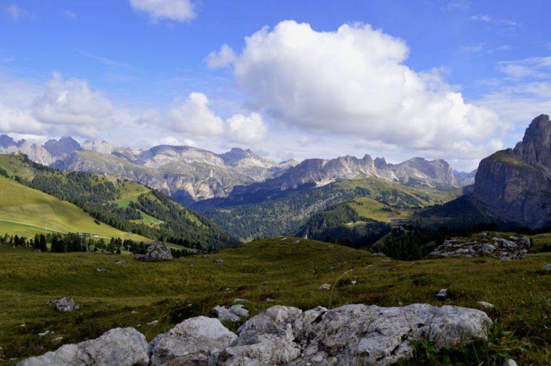 De bergen in Val Gardena