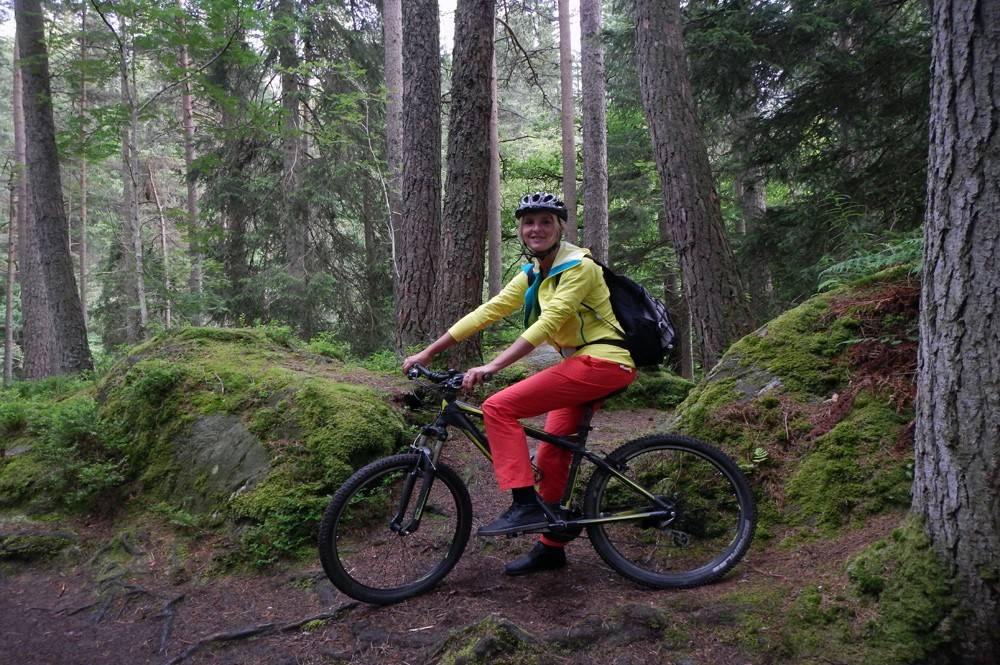 Mountainbiken in Perthshire, Schotland