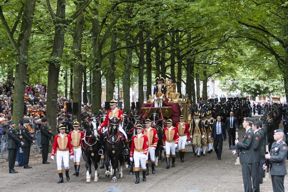 Koninklijke stoet tijdens Prinsjesdag
