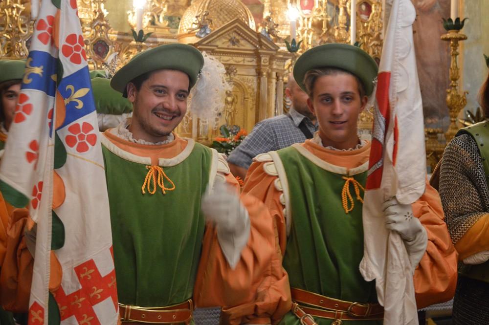 Deelnemers aan de Corteo Storico