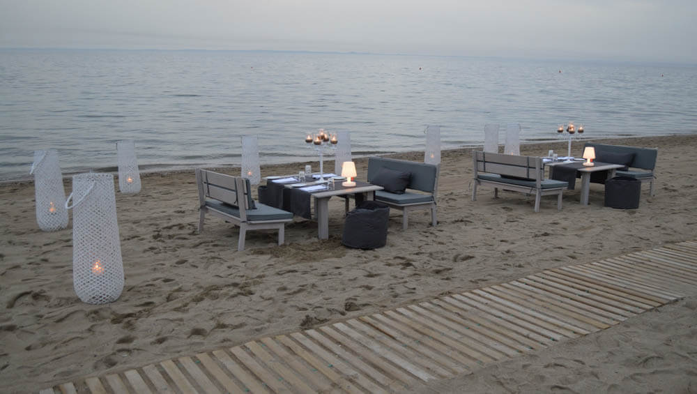 Private dinner @ the beach