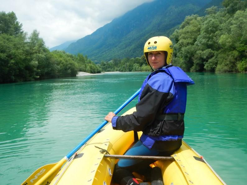 raften op de Soca rivier in Slovenië