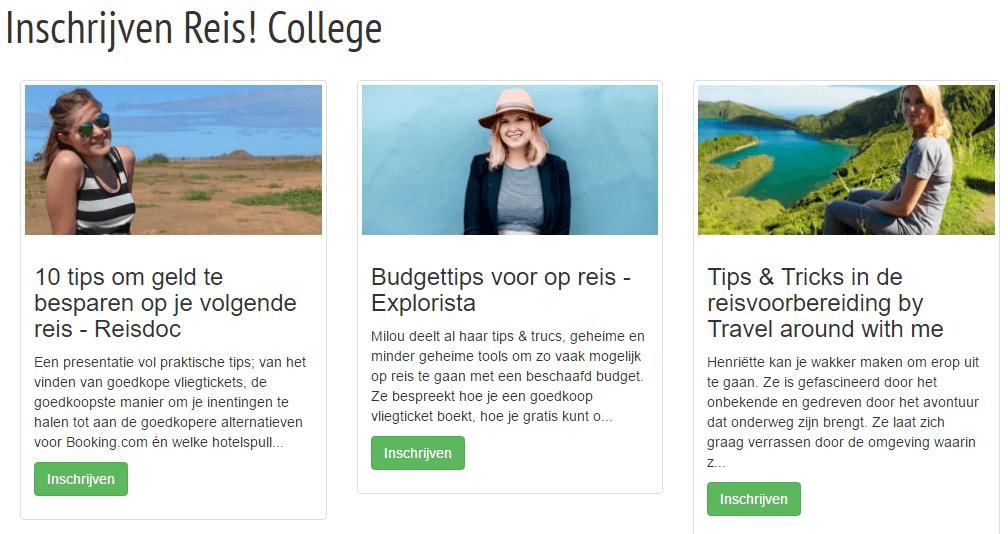 Reis! College - Reisevent