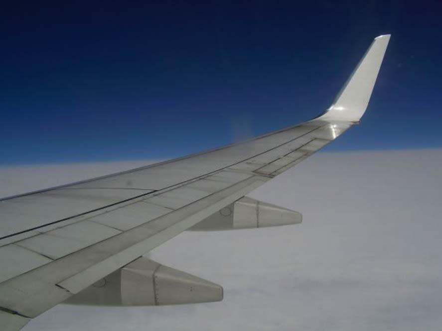 Rhodos vanuit het vliegtuig