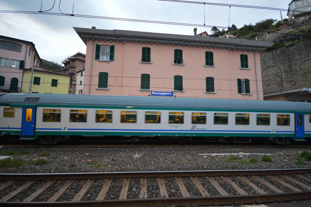 Het treinstation van Riomaggiore