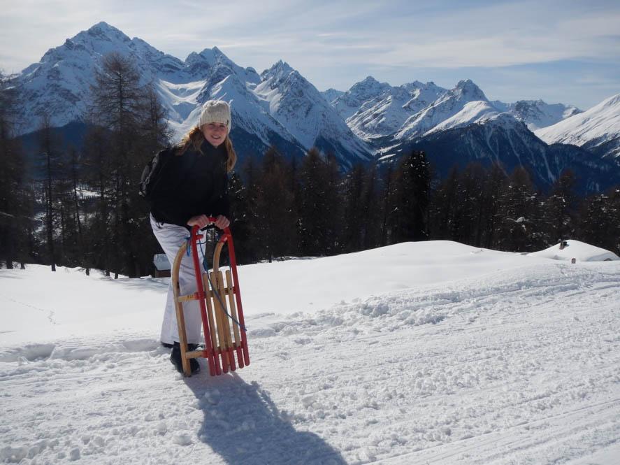 Rodelen Scuol - Zwitserland